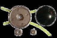010124(26) Барабан для лески триммера тип JET-FIT, серии ULTRA PRO Универсальн. возможность использ. Кусков лески Ø1,6-5. Съемный нос для уменьш. высоты скашивания до 0,5см. В компл. шайба и гайка