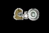 010227 (E) комплект собачка с пружиной , болтом и крышкой  двигателя бензогенератора 0,8-1,5 кВт