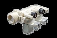 """К021ID """"Электроклапан 2Wx180 для Индезит, Аристон.  Контакты вместе Двойной прямой вых 10мм."""""""