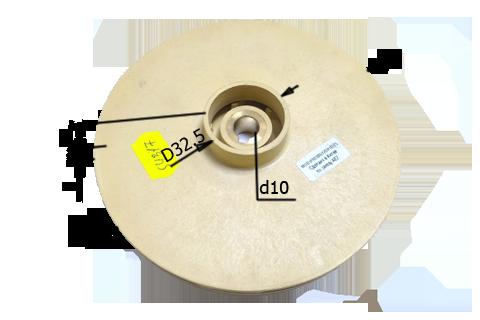 010280(120х10)PL Крыльчатка на циркуляционные насосы (120х10)PL