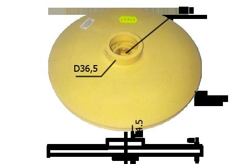 010280(153х12)PL Крыльчатка на циркуляционные насосы (153х12)PL