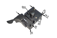 122 Выключатель для дрели DWT реверс загн. вверх 6А