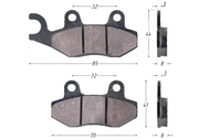Колодки тормозные дисковые SYM JET50,100 (FDB2190) 4610013549111