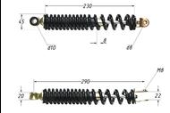 Амортизатор задний (L-290mm,D-10mm,M8) STINGER,FLASH,TACTIC, B-08/09 4620753536180