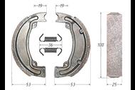 Колодки тормозные барабанные (105x25mm) 2T JOG, TACTIC, ZIP, Z50 4620753537088