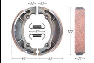 Колодки тормозные барабанные (125x28mm) NIRVANA, VR-1 4620753537095