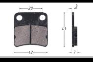 Колодки тормозные дисковые TTR125 (зад.), DIO/TACT (перед.); (HF102) 4620753547377