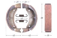Колодки тормозные барабанные (90x20mm) AD50, SEPIA, AG50 4620757436103