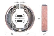 Колодки тормозные барабанные (105x25mm) LET`S, AD100 4620757436110