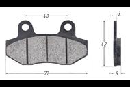 Колодки тормозные дисковые TTR250a,TTR250Sa (перед) 4620761962735