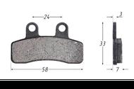 Колодки тормозные дисковые TTR110, TTR125 (перед) 4620767360498