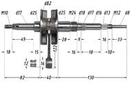 Вал коленчатый в сборе 2T AD100 p12mm 4620767361549