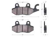 Колодки тормозные дисковые NIRVANA,VOLCAN,Z50R, LX, Z1 (зад.) VJ (перед.); (c ухом) 4620767362300