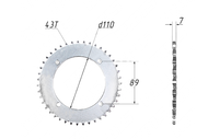 Звезда ведомая (428-43T) (4x90) D110; TTR110 4620770799117