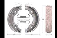 Колодки тормозные барабанные (130x28mm) YBR125 4627072924179