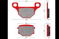 Колодки тормозные дисковые TTR250Rb, GR (зад.), VR-1 (перед.) 4627072931436
