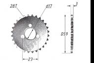 Звезда вала ГРМ 156FMJ (YX140); TTR150, KAYO-140, JMC, YCF 28T 4630031480128