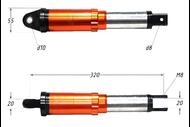 Амортизатор задний (L-320mm,D-10mm,M8) (внутр.пружина) 4650064239517