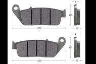 Колодки тормозные дисковые Z1 (перед) 4650066004229