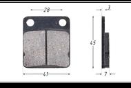 Колодки тормозные дисковые LX,RZR (перед.), CG125, MINSK ТИП3, ATV200-500H (перед.) 4680329003652
