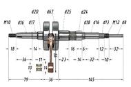 Вал коленчатый в сборе 2Т Suzuki pin10 полнощекий MALOSSI 538631 4680329013392