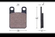 Колодки тормозные дисковые Peugeot,Italjet MALOSSI 6211520 4680329014030