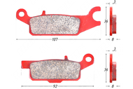 Колодки тормозные дисковые YAMAHA (перед. левые) 4680329031266