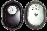 """993012 """"Фланец овальный RCA с прокладкой  (Для ЭВН Аристон, ТЭНы RCA - 816644, 3401242, 3401124, 816630"""""""