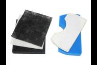"""v1156 """"Предмоторный фильтр Samsung FSM 45 компл. 5 шт  (черный 11*12.5cm, белый 11*12.5cm, черный 10.5*12.5cm, белый 149*89mm, синий 154*89mm) """""""